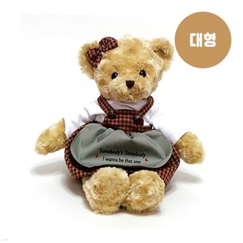 체크테디베어 브라운(대)-여자곰