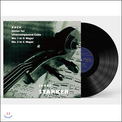 Janos Starker 바흐: 무반주 첼로 모음곡 2집 1번 3번 - 야노스 슈타커 [LP]