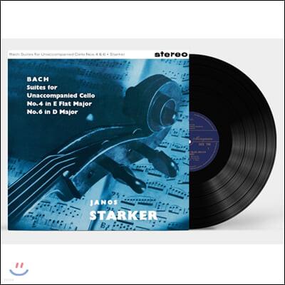 Janos Starker 바흐: 무반주 첼로 모음곡 3집 4번 6번  - 야노스 슈타커 [LP]