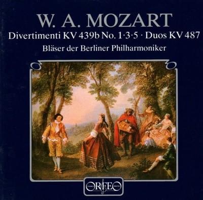 Mozart - Divertimenti, KV.439b, No.1, 3. 5 /  Duos, KV.487 (유럽반)