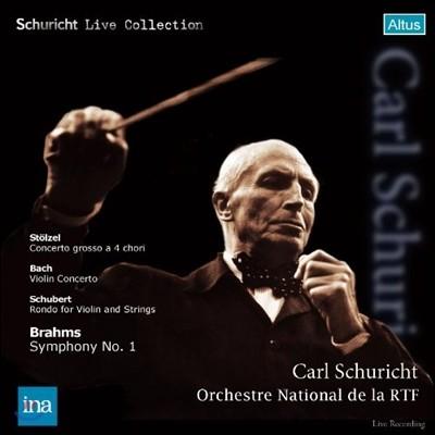 Carl Schuricht 브람스 : 교향곡 1번 / 바흐 : 바이올린 협주곡 (Stolzel: Concerto Grosso a 4 Chori & Bach: Violin Concerto No.2) 칼 슈리히트