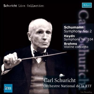 Carl Schuricht 슈만: 교향곡 2번 / 브람스: 바이올린 협주곡 (Haydn: Symphony No.104 'London' / Brahms: Violin Concerto Op.77 / Schumann: Symphony No.2 Op.61) 칼 슈리히트