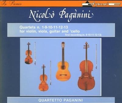 Paganini 파가니니: 사중주 전곡 1집 - 현악 4중주단 (Paganini: Complete Quartets Vol. 1) 2×CD ( Italy 반)