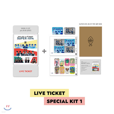 2020 K-POP x K-ART CONCERT [SUPER KPA] LIVE 관람권 + 스페셜 키트 1