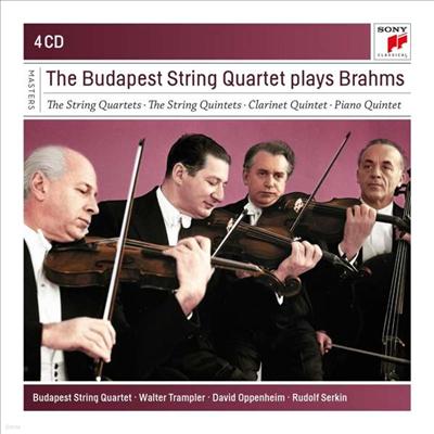 부다페스트 현악사중주단이 연주하는 브람스 (Budapest Strinq Quartet Play Brahms) (4CD) - Budapest String Quartet