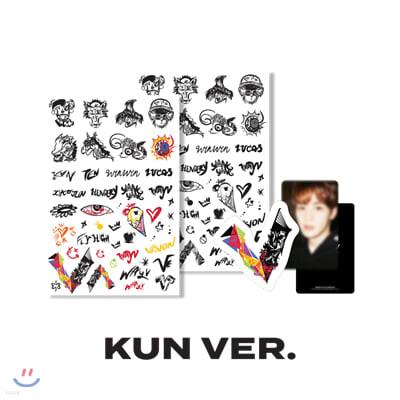 [WayV] [KUN] 타투+러기지스티커 SET