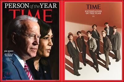 Time (주간) - Asia Ed. 2020년 12월 21일 : 타임 아시아판 : BTS (방탄소년단) 올해의 인물 엔터테이너 부문 선정 기사 수록 / 인사이드 커버