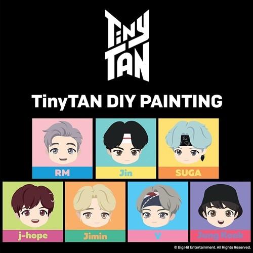 방탄소년단 타이니탄 (BTS TINYTAN) DIY PAINTING (25 X 25)