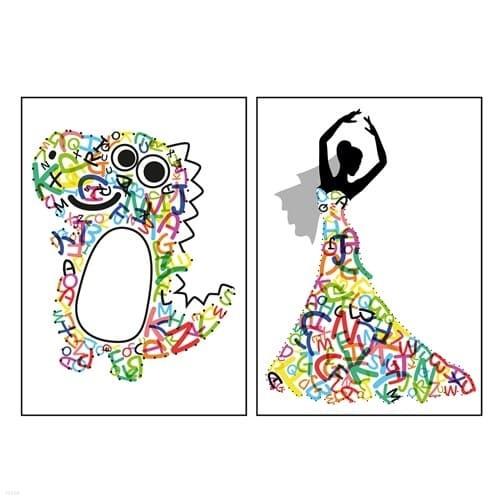 신우 알파벳 스티커 568개 영어 소문자 대문자 에바알머슨 따라하기 미술놀이