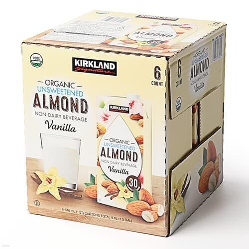 [글로벌푸드][코스트코]커클랜드 유기농 아몬드 음료 (무가당) 946ml x 6팩