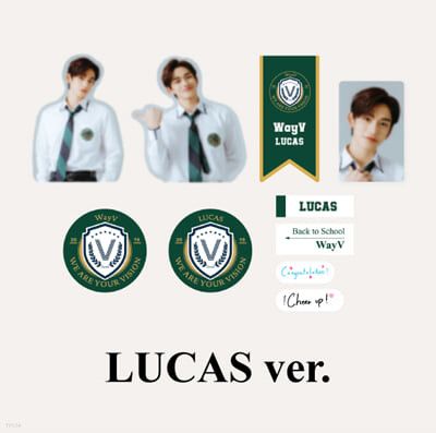 [WayV_LUCAS] 2021 BSK LUGGAGE STICKER+PHOTO CARD SET