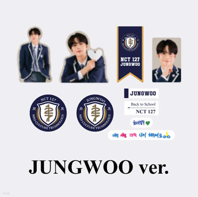 [NCT 127_JUNGWOO] 2021 BSK LUGGAGE STICKER+PHOTO CARD SET