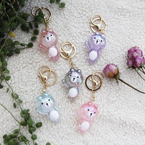 블링블링 젤리 사탕 곰돌이 키홀더 키링(5colors)