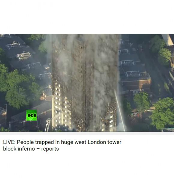 오늘 런던의 24층 아파트에 불이 났다.
