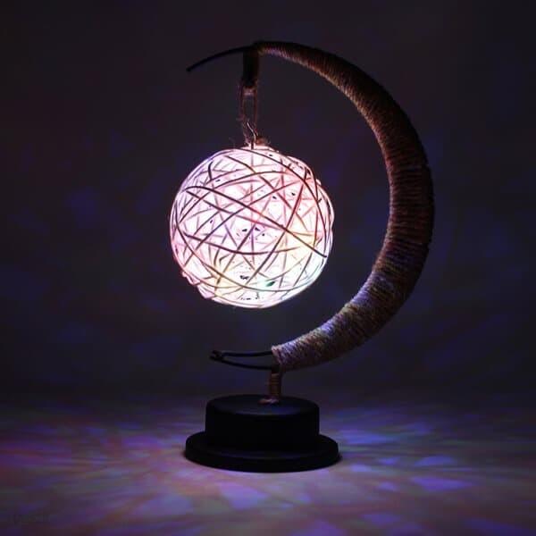 초승달 라탄볼 LED 무드등 무선 선물 수면 테이블조명