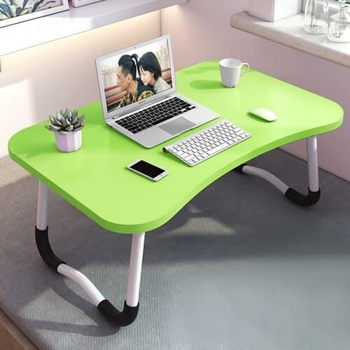 베이직 접이식 좌식 책상 침대 노트북 테이블 그린