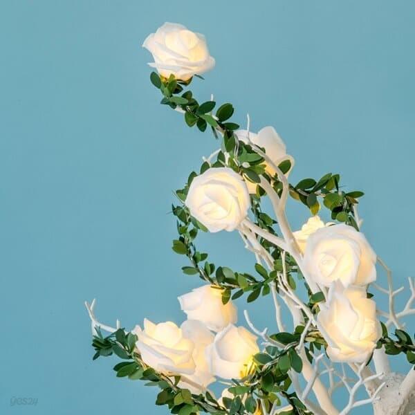 20구 LED 로즈 가랜드 전구 장미꽃 이벤트조명