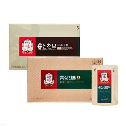[정관장] 홍삼진본 (40ml*30포) + 홍삼천보 (50ml*30포)