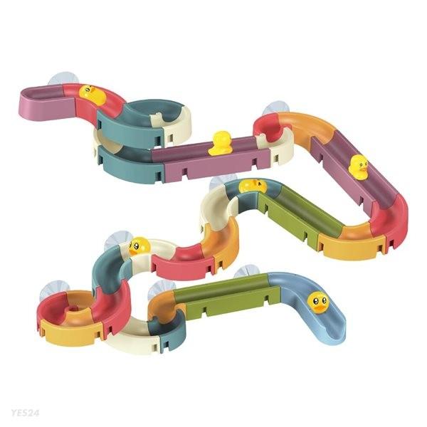 레츠토이 워터슬라이드 66pcs 레일 장난감 유아 목욕놀이 물놀이