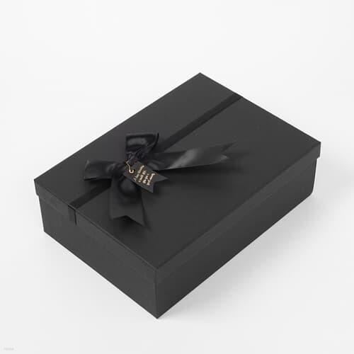 모던블랙 리본 선물상자(28x20cm)  선물포장 케이스