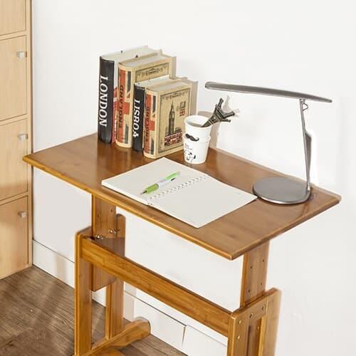 4단높낮이조절원목 간이책상/노트북책상 사이드테이블