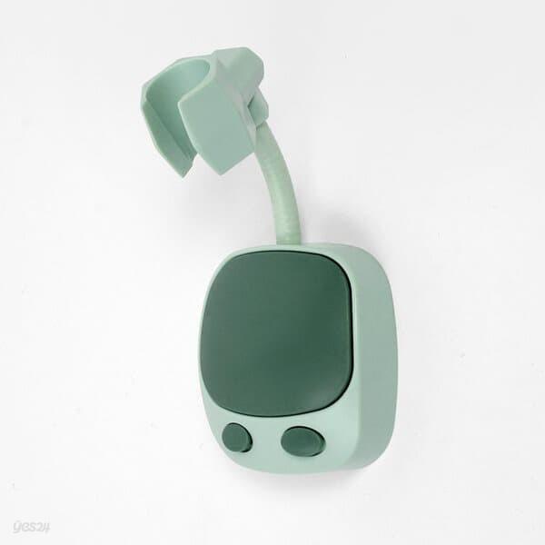 자바라 각도조절 샤워기걸이 접착식 샤워기거치대