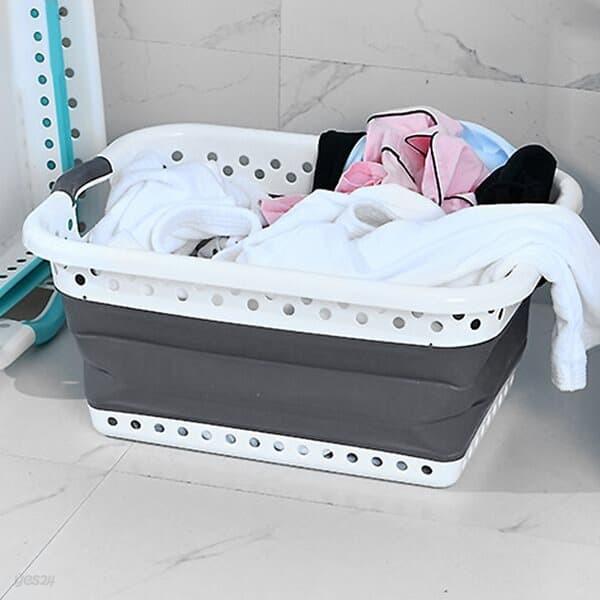 리빙모아 접이식 빨래바구니 세탁보관 수납바스켓