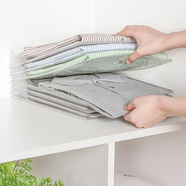 리빙하우 투명 옷정리 트레이 티셔츠 니트 옷장 수납