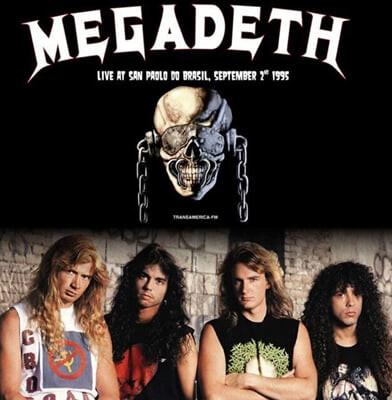 Megadeth (메가데스) - Live At San Paolo Do Brasil, September 2nd 1995 [화이트 컬러 LP]