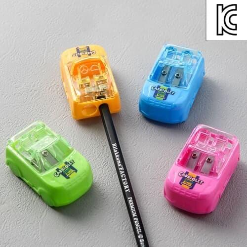 붕붕 자동차 연필깎이/미니연필깎이 휴대용 연필깍기