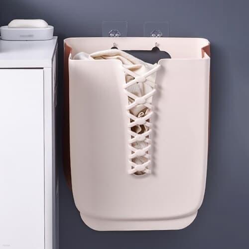 폴딩 벽걸이 빨래바구니 공간활용 접이식 세탁보관함