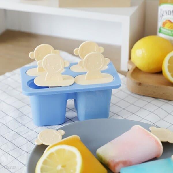 국산 실리콘 홈카페 얼음틀 아이스크림 샤베트 틀 4구