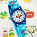 큐앤큐 VR99J-018Y 열기구 캐릭터 학습 아동 키즈 어린이 패션시계