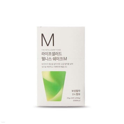 [라이프샐러드] 보성 녹차 웰니스쉐이크 파우치M(녹차) 25g x 10포/식사대용 간편식/단백질보충