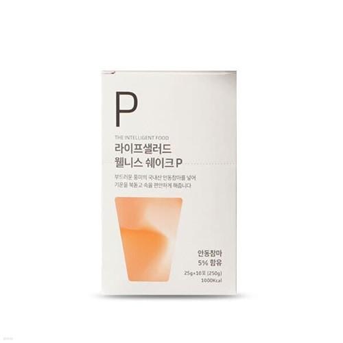 [라이프샐러드] 국내산 참마 웰니스쉐이크 파우치P(플레인) 25g x 10포/식사대용 간편식/단백질보충