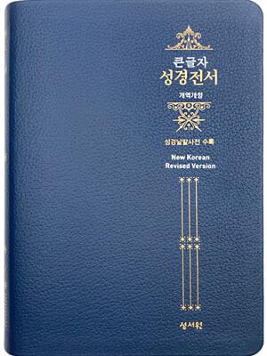 성경전서 NKR73ESB (고급/개역개정/대/색인/무지퍼/네이비)