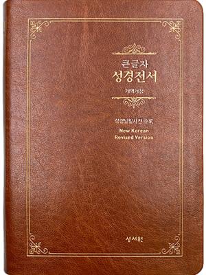 성경전서 NKR73ESB (개역개정/대/색인/무지퍼/브라운)