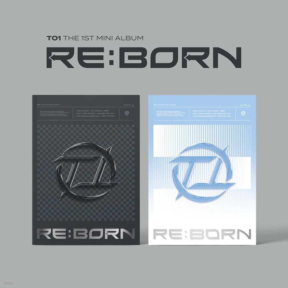 티오원 (TO1) - 미니앨범 1집 : RE:BORN [SET]
