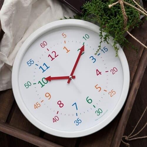 [N365] 300파이 어린이 숫자공부 저소음 벽시계.