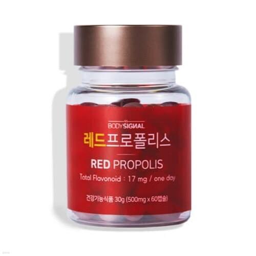 [바디시그널] 레드프로폴리스 500mg60캡슐 (구강항균-항산화-면역)
