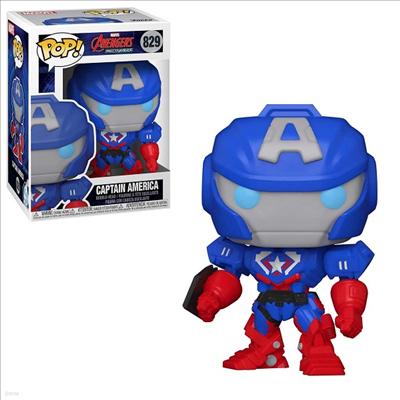 Funko - (펀코)Funko Pop! Marvel: Marvel Mech- Cap. America (마블)(캡틴 아메리카)