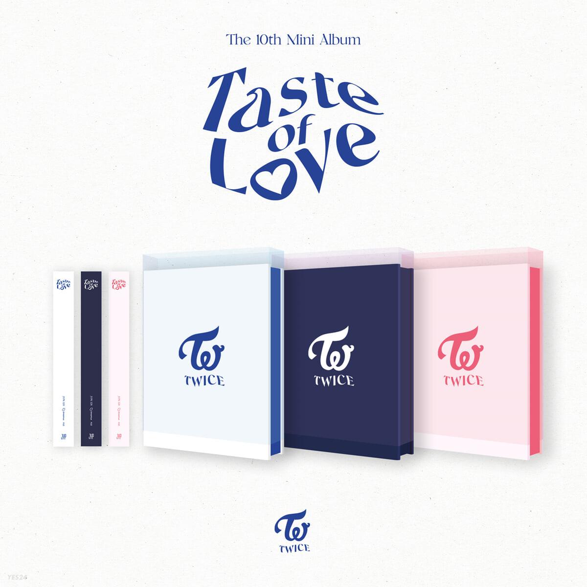 트와이스 (TWICE) - 미니앨범 10집 : Taste of Love [Taste, Fallen, In Love 버전 중 1종 랜덤 발송]