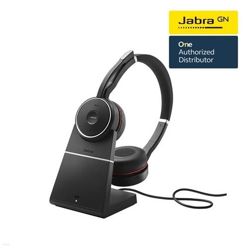 [Jabra]자브라 Evolve75 Stereo 블루투스 헤드셋+Stand 충전기/원격수업/온라인수업