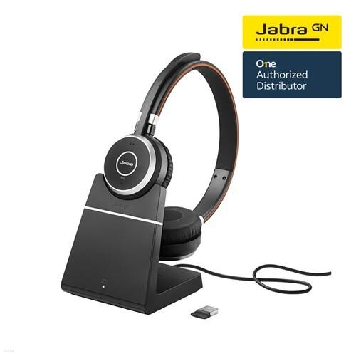 [Jabra]자브라 Evolve65 BT Stereo Plus 블루투스 헤드셋+Stand 충전기/원격수업/온라인수업