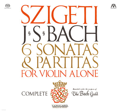 Joseph Szigeti 바흐: 무반주 바이올린을 위한 소나타와 파르티타 - 요제프 시게티 (Bach: Sonatas and Partitas for Unaccompanied Violin)
