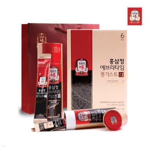 한국인삼공사 정관장 홍삼정 에브리타임 롱기스트 10ml x 10포 + 쇼핑백