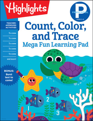 Preschool Count, Color, and Trace