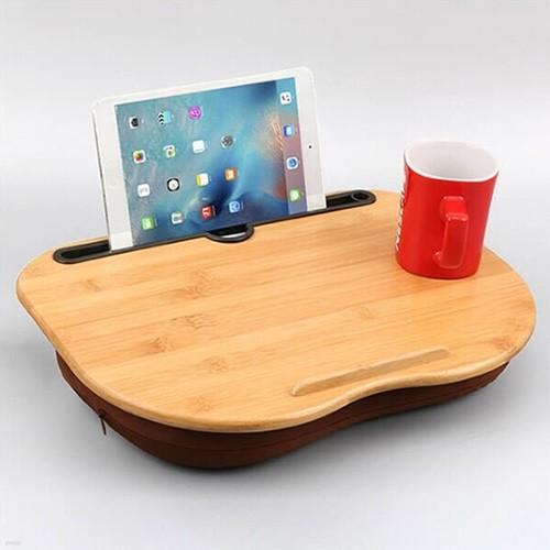 밤부 멀티쿠션 무릎테이블 리빙아이템 다용도테이블 노트북거치 커피테이블 등받이 베개