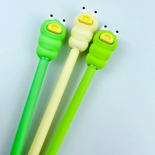 귀여운 애벌레 삼총사 필기구 학용품 볼펜