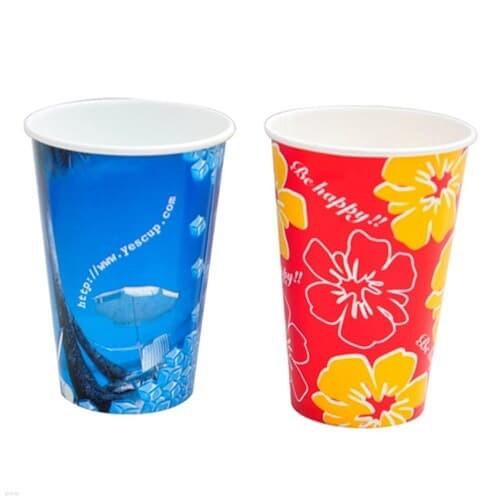 [현대크린] 종이컵 12oz 1줄(50개입)12온스대용량디자인랜덤발송